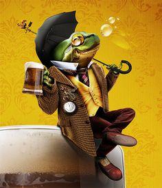 Abbey Toad by Devin Schoeffler, via Behance