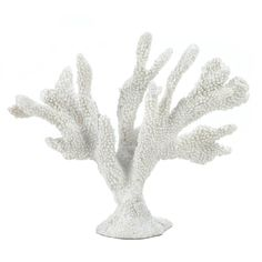 Large White Coral Statue