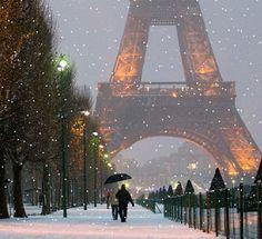 Parigi sotto la neve!