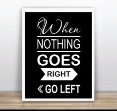Something to cheer you up, great gift idea, optimistic quotation poster via en.dawanda.com