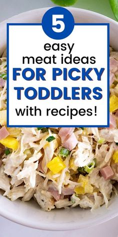 Toddler Chicken Recipes, Pulled Chicken Recipes, Easy Meat Recipes, Baby Food Recipes, Kid Recipes, Healthy Recipes, Picky Toddler Meals, Kids Meals, Toddler Food