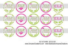15 Elf in Training Digital Download for 1 Bottle Caps by MaddieZee, $1.50