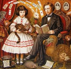 """The """"real"""" Alice and the author of the Alice books. Alice Liddell and Lewis Carroll by Inga-Karin Eriksson Alice Liddell, Alice Book, Alice In Wonderland Book, Adventures In Wonderland, Lewis Carroll, Celine, Maggie Taylor, Go Ask Alice, Alice Tea Party"""