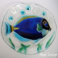 Rybka fusing - fused glass fish