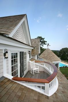Great roof deck, probably off the master?