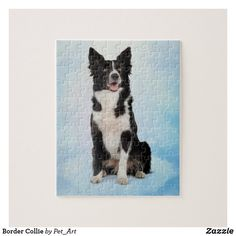 Shop Border Collie Jigsaw Puzzle created by Pet_Art. Border Collie Art, Make Your Own Puzzle, Custom Gift Boxes, Animal Skulls, Dog Art, High Quality Images, Pink And Green, Cute Dogs, Funny Animals