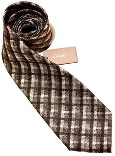 $240 NWT Tom Ford Mens 100% Silk Neck Tie Black Gold Plaid Made in Italy #TomFord #NeckTie