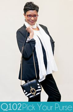 Diane von Furstenberg - Black & White Mini Crossbody. Go to wkrq.com to find out how to play Q102's Pick Your Purse!