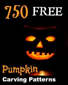 FREE Pumpkin Carving Patterns – over 750 designs! - Collecting up my prior pins here for re-casting on new boards. Holidays Halloween, Halloween Treats, Halloween Pumpkins, Halloween Fun, Halloween Decorations, Pumkin Carving, Pumpkin Carving Templates, Cute Pumpkin, Pumpkin Crafts
