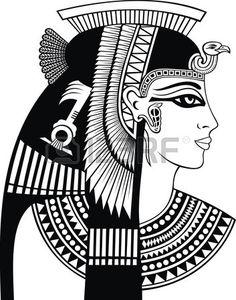 Detail of cleopatra head stock vector. Image of hieroglyphics - 67652395 Cleopatra Tattoo, Ancient Egypt Art, Ancient Aliens, Ancient Artifacts, Ancient Greece, Ancient History, Egyptian Drawings, Egyptian Party, Egyptian Costume