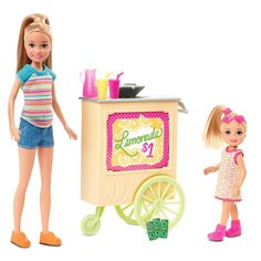 Open a lemonade stand with this Barbie Team Stacie Doll and Accessories featuring a rolling lemonade stand. Explore more Stacie dolls at our Barbie shop today! Mattel Barbie, Barbie Shop, Barbie Stacie Doll, Barbie Chelsea Doll, Barbie Fashionista, Barbie Mermaid Doll, Baby Barbie, Girl Hair Colors, Mermaid Nursery
