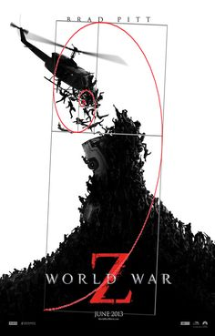 World War Z poster with golden ratio! Graphic Design Lessons, Fibonacci Spiral, Rule Of Thirds, Golden Ratio, Tool Design, Photoshop, Tools, Poster Designs, Photography