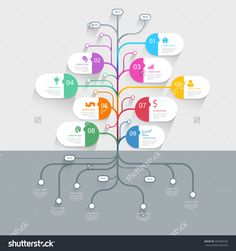 Stylish Tree Timeline Process History Mindmap Business Infographics Template Mockup. Web Site Infographic Background Concepts Collection. Stock Vector Illustration 302385539 : Shutterstock