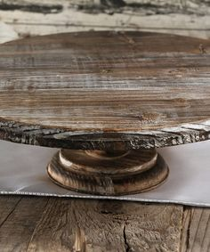 Loving this Rustic Wood Cake Stand on #zulily! #zulilyfinds