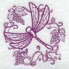 Machine Embroidery Designs at Embroidery Library! - Delightful Dragonfly Circle