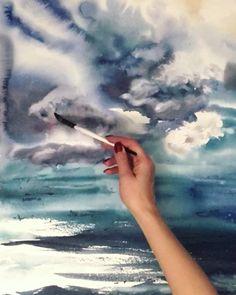 """💎 Акварель 💎 Батик on Instagram: """"Заказать картину/иллюстрацию или приобрести готовую очень просто - пишите в директ! 😊 #акварель #акварельнаяиллюстрация #watercolor…"""" Watercolor Clouds, Outdoor, Outdoors, Outdoor Games, The Great Outdoors"""