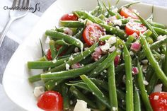 Tangy vegetarian green bean salad recipe is perfect for summer