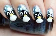 Adorable Antarctic Nail Designs #Christmas #DIY #Manicures