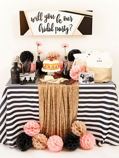 Creative Bridesmaids Proposal Ideas - How to ask your bridesmaids! How to pop the question to your bridesmaids Wedding Pics, Dream Wedding, Wedding Ideas, Festa Party, Party Party, Party Ideas, Bridesmaid Proposal, Bridesmaids, Bridesmaid Dresses