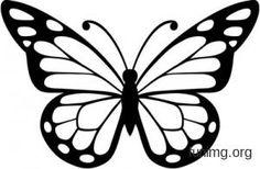 Эскиз бабочки для декора наклейкой или трафаретом Butterfly Outline, Butterfly Stencil, Rose Stencil, Butterfly Clip Art, Butterfly Images, Butterfly Drawing, Butterfly Crafts, Butterfly Pattern, Butterfly Template