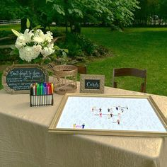 cedarwood weddings guest book sign in. Color in a figure that best represents you.