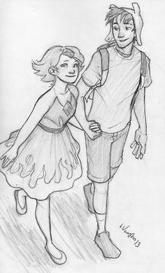 Flame Princess and Finn :)