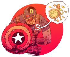 """""""I could do this all day."""" by artist Dan Hipp."""