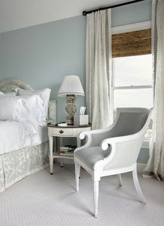 serene blue + gray bedroom