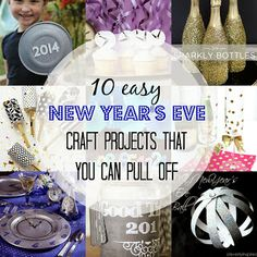 Measure Once, Cut Twice: 10 Easy New Year's Eve Craft Projects