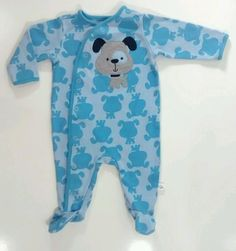 First Moments 3 Months Baby Boy One-Piece Blue Doggie Snap Footie Pajamas | Clothing, Shoes & Accessories, Baby & Toddler Clothing, Boys' Clothing (Newborn-5T) | eBay!