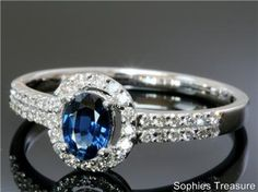 Saphire and diamond Victorian engagement ring