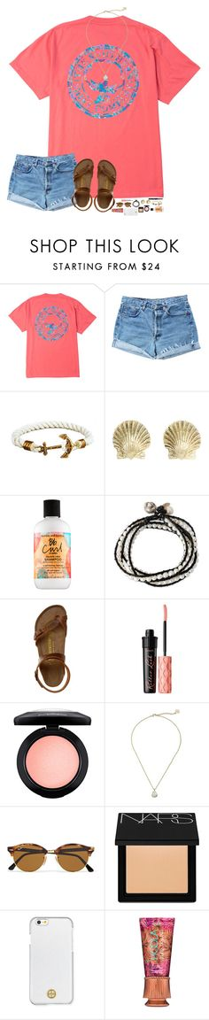 """""""Contest in D!"""" by hopemarlee ❤ liked on Polyvore featuring Levi's, Tiffany & Co., Bumble and bumble, NOVICA, Birkenstock, Benefit, MAC Cosmetics, Kendra Scott, Ray-Ban and NARS Cosmetics"""