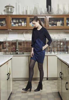 """AKIN TO _______  AW15 """"Plomb"""" Collection   Denim dress"""