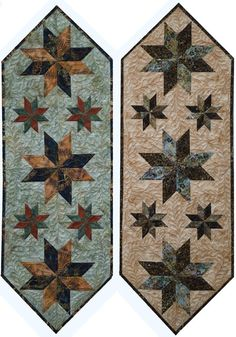 Canton Village Quilt Works: Shop | Category: All Patterns | Product: Mini Star Table Runner
