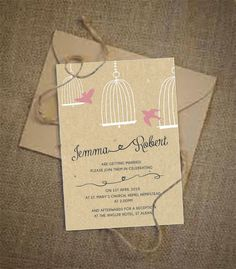 Birdcage Wedding Invitation