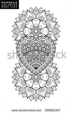 mandala vector mandala floral mandala flower mandala oriental mandala coloring mandala - Christmas Mandalas Coloring Book