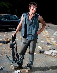 "And even if it seems like all Daryl does is kill, kill, kill, then pose like some manic Greek god... | 28 Reasons Why Daryl Dixon Is The Sexiest Man On ""WalkingDead"""