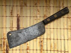 Old American Cutlery Company Meat Cleaver Carbon Steel Blade Kitchen Knife Tools #AmericanCutleryCompany