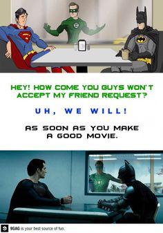 Green Lantern is not on the Friendlist