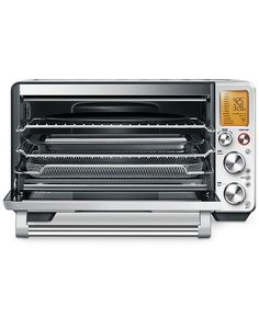 Shop Breville the Smart Oven Air Convection Toaster/Pizza Oven Stainless Steel at Best Buy. Find low everyday prices and buy online for delivery or in-store pick-up. Countertop Oven, Countertops, Stainless Steel Oven, Cooking Temperatures, Oven Racks, Kitchen Equipment, Heating Element, Small Kitchen Appliances, Cooking Utensils