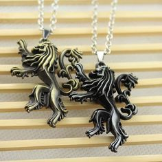 House Lannister Family Crest Pendant Necklace //Price: $9.99 & FREE Shipping //     #WinterIsComing