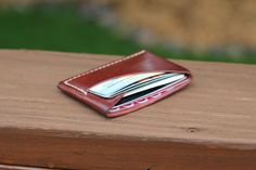 Forget the large bifold wallet you used to carry. Check out this luxurious ultra slim minimalist card wallet. Features two compartments to fit MANY