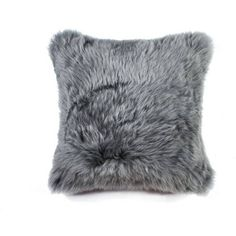Natural Brand New Zealand Sheepskin Pillow Gray 18x18 By (66 CAD) ❤ liked on Polyvore featuring home, home decor, throw pillows, gray home decor, grey throw pillows, grey accent pillows, gray accent pillows and grey home decor