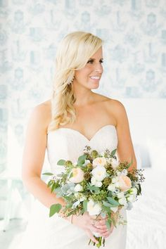 Wythe Hotel Wedding by Elizabeth and Rich Photography Hair by StylesOnB Floral Design by DM Events Makeup by Nicole Sievers Makeup Hair by Styles on B