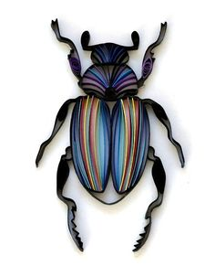 Quilled beetle  Created by Natasha Molotkova of Papergraphic.  Blogged: www.allthingspaper.net/2012/02/new-quilled-designs-from-n...