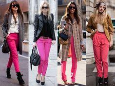 calça colorida - Como usar?