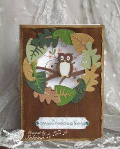 Thank You by - Cards and Paper Crafts at Splitcoaststampers Owl Punch, Punch Art, Paper Punch, Z Cards, Greeting Cards, Owl Card, Paper Crafts, Diy Crafts, Scrapbook Cards