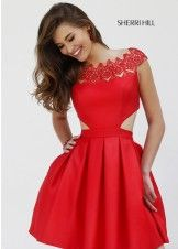 Sherri Hill 9756 Laser Cut Out Short Dress