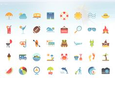 We needed a set of summer vacation icons. And gosh darn it that's what we got :)