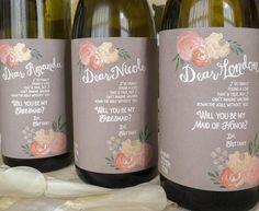 Wine bottle bridesmaid ask @myweddingdotcom